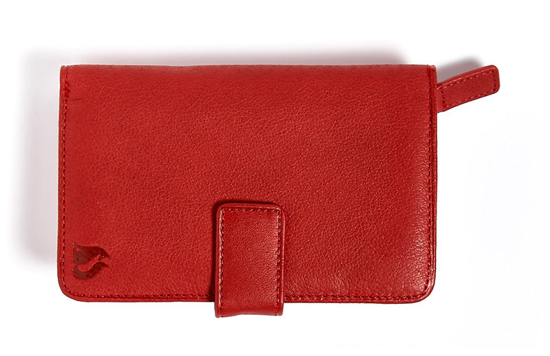 Foxfield Conniston leather ladies purse in Dark Red