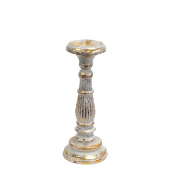 Small Candle Stand - White Gold