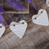 Hanging Heart Garlands from  Cornucopia Clay