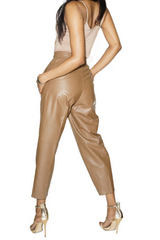 VINTAGE BROWN TOFFEE LEATHER PANTS