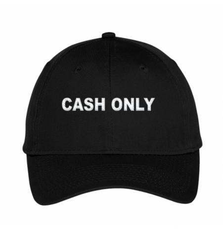 Picture of CASH ONLY DAD HAT - BLACK