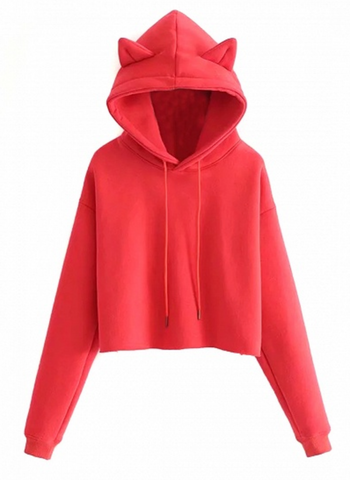 Picture of Here Kitty Kitty Cropped Hoodie