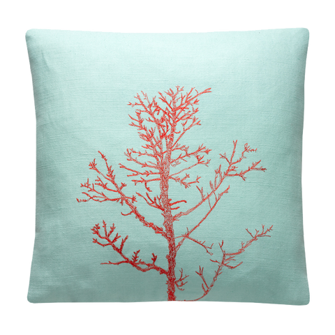 Arboretum / Winter Tree Cushion Cover / Aqua