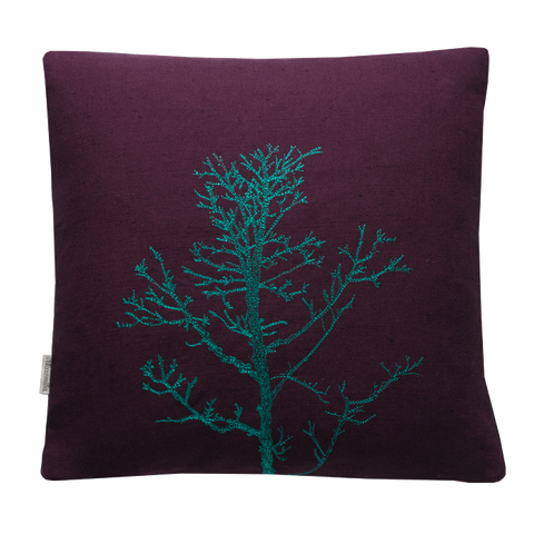 Arboretum / Winter Tree Cushion Cover / Aubergine