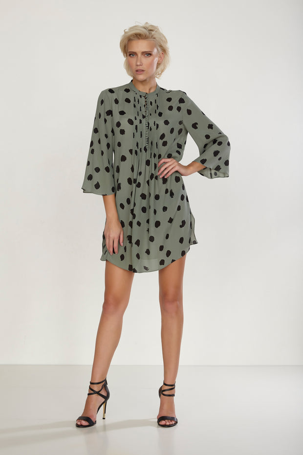 Credo Tunic Green Polka Dot