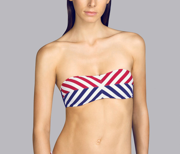 Naif Strapless Bikini Red White and Blue