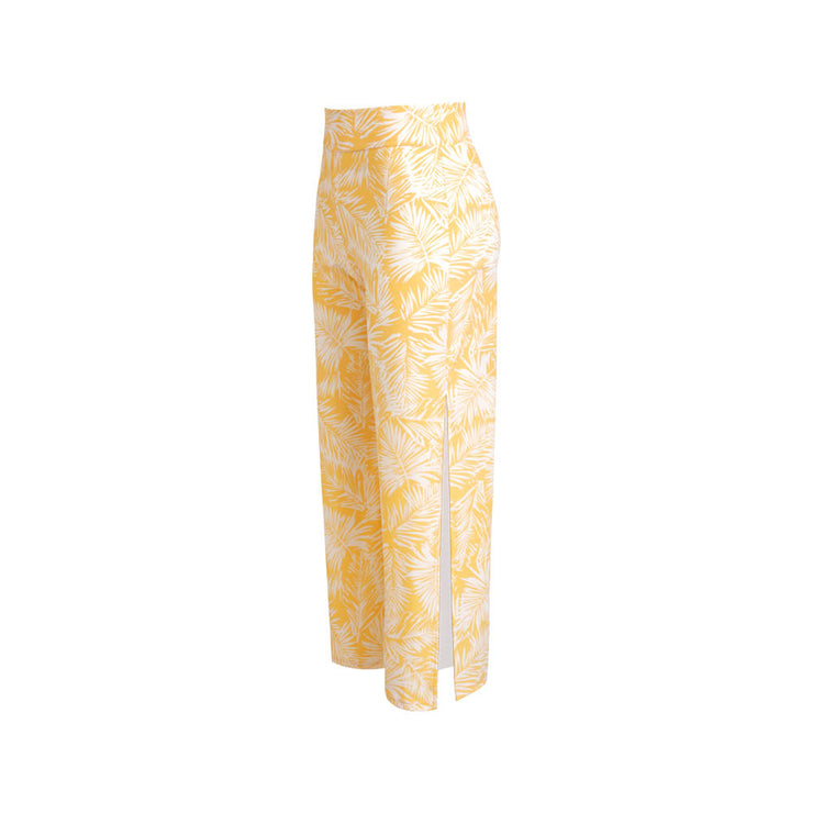 Palm Glow Beach Trousers Yellow