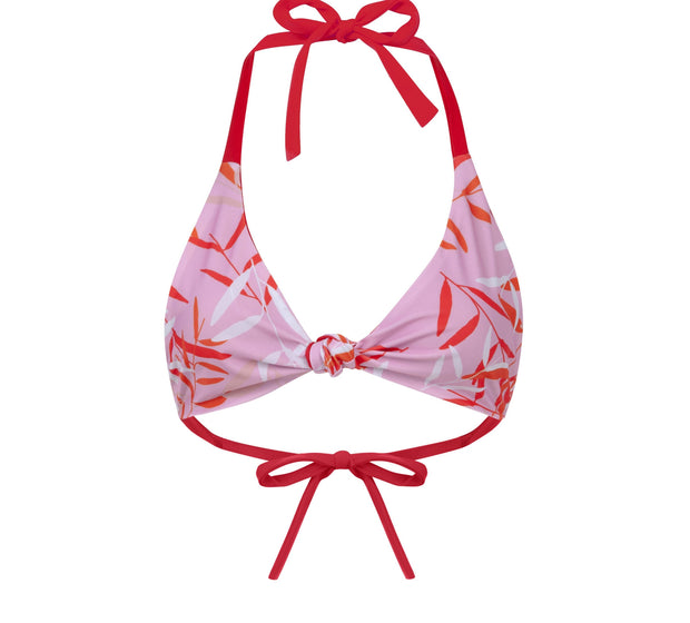 Flamenco Fuego Full Brief Bikini Pink & Red