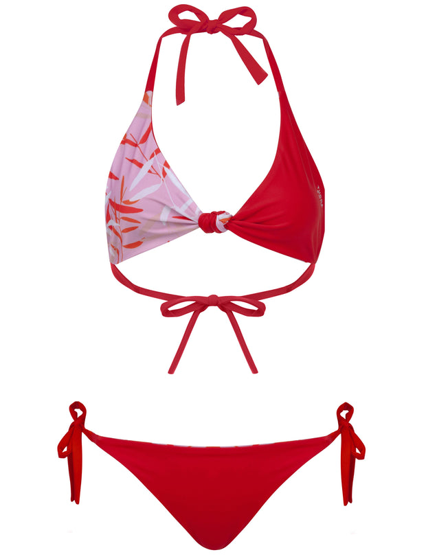 Flamenco Fuego Multiway Bikini Pink & Red