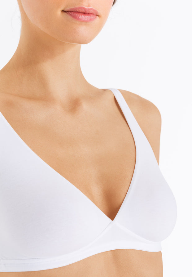 Cotton Sensation Soft Cup Non Underwired Bra White