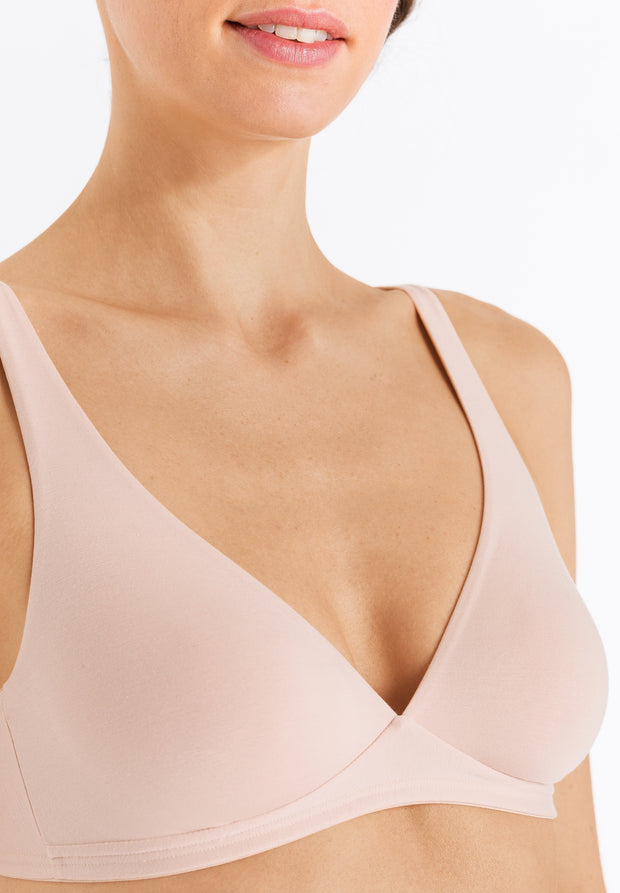 Cotton Sensation Soft Cup Non Underwired Bra Beige
