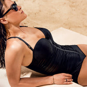 Primadonna black control swimsuit. Style Cocktail (4000134) from UK lingerie shop Guilt in Petworth