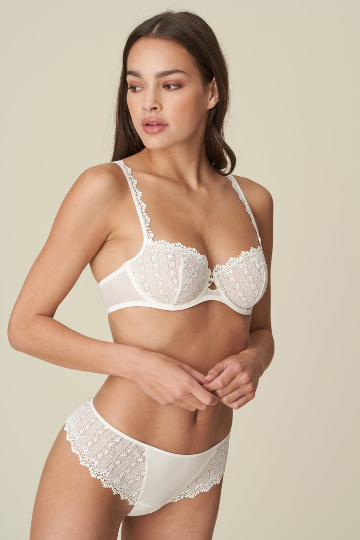 Christy Lace Balcony Bra Natural