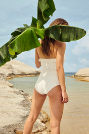 Celine Strapless Swimsuit Natural