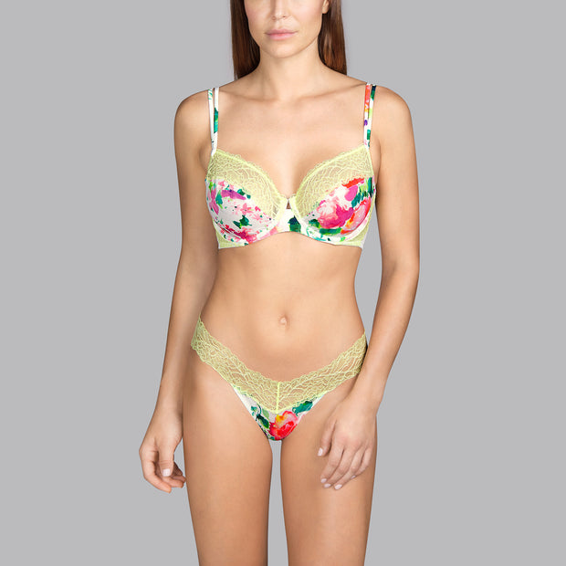 Flower Full Cup Underwired Bra D-E Cup