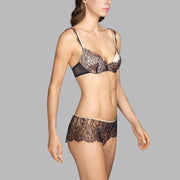 Love Lace Padded Bra Black Charcoal
