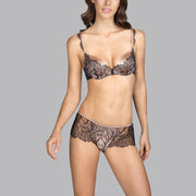 Love Luxury Lace Thong Black Charcoal