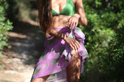 Savana Palm Long Sarong Purple & Green