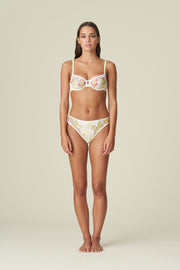 Amber Underwired Soft Cup Lace Bra Yellow Tonic