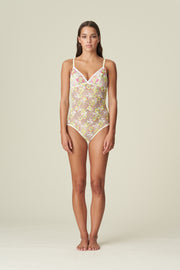 Amber Floral Lace Body Yellow Tonic