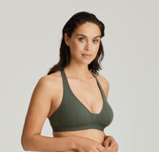 Holiday Plunge Multi Way Bikini Dark Olive