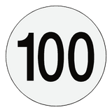 Reflective 100 Kph Speed Limit Sticker international | Safety-Label.co.uk