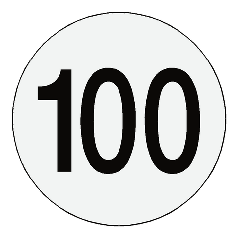 Reflective 100 Kph Speed Limit Sticker international - Safety-Label.co.uk