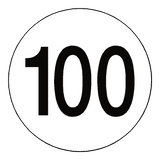 100 Kph Speed Limit Sticker International | Safety-Label.co.uk
