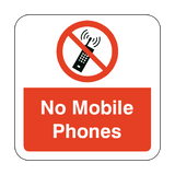 No Mobile Phones Floor Graphics Sticker | Safety-Label.co.uk