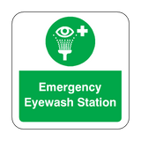 Emergency Eyewash Station Floor Graphics Sticker | Safety-Label.co.uk