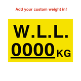 W.L.L Sticker Kg Yellow Custom Weight | Safety-Label.co.uk