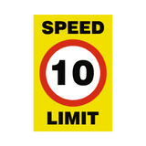 10 Mph Speed Limit Sign | Safety-Label.co.uk