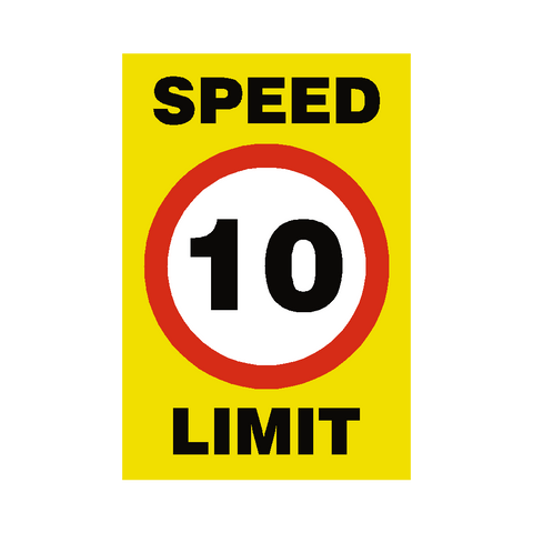 10 Mph Speed Limit Sign - Safety-Label.co.uk