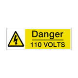 110 Volts Label - Safety-Label.co.uk