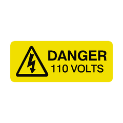 110 Volts Labels Mini - Safety-Label.co.uk