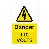 110 Volts Sticker - Safety-Label.co.uk