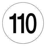 110 Kph Speed Limit Sticker International | Safety-Label.co.uk