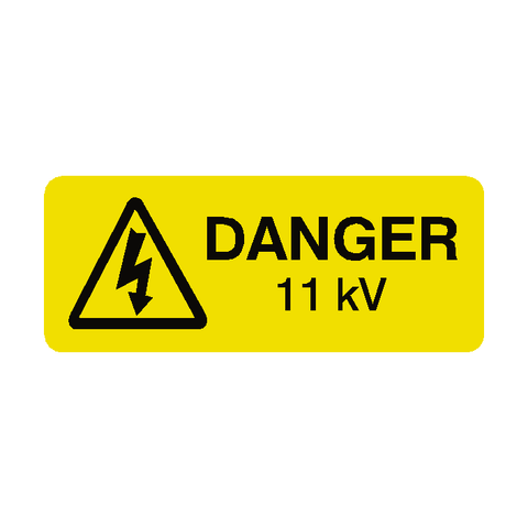 11 kV Labels Mini - Safety-Label.co.uk