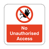 No Unauthorised Access Floor Graphics Sticker | Safety-Label.co.uk