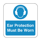 Ear Protection Must Be Worn Floor Graphics Sticker | Safety-Label.co.uk