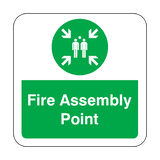 Fire Assembly Point Floor Graphics Sticker | Safety-Label.co.uk