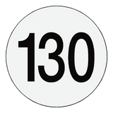 Reflective 130 Kph Speed Limit Sticker Reflective | Safety-Label.co.uk