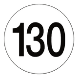 130 Kph Speed Limit Sticker International | Safety-Label.co.uk