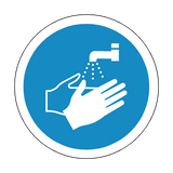 Wash Your Hands Floor Marker Sticker | Safety-Label.co.uk