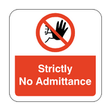 Strictly No Admittance Floor Graphics Sticker | Safety-Label.co.uk