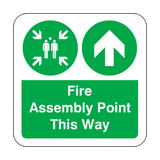Fire Assembly Point Arrow Up Floor Graphics Sticker | Safety-Label.co.uk