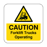 Forklift Truck Operating Floor Graphics Sticker | Safety-Label.co.uk