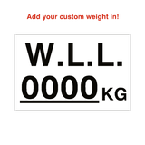 W.L.L Sticker Kg White Custom Weight | Safety-Label.co.uk