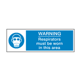 Respirators Must Be Worn Label | Safety-Label.co.uk