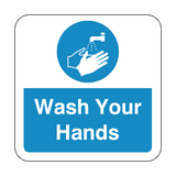 Wash Your Hands Floor Graphics Sticker | Safety-Label.co.uk